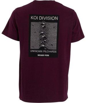 Weird Fish Koi Division Artist T-Shirt Plum Size M
