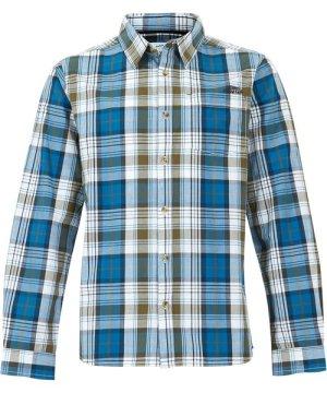 Weird Fish Sperrin Long Sleeve Check Shirt Storm Blue Size M