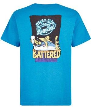 Weird Fish Battered Artist T-Shirt Blue Wash Size 4XL