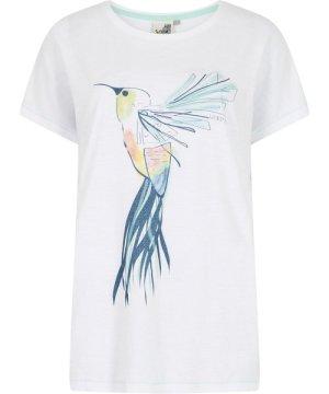 Weird Fish Hummingbird Organic Cotton Graphic T-Shirt White Size 16