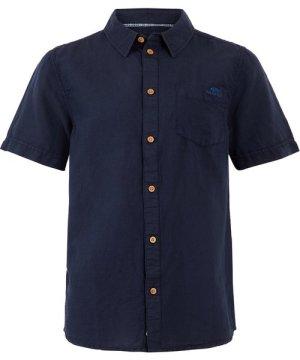 Weird Fish Westray Linen Shirt Navy Size 3XL