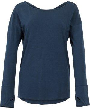 Weird Fish Iris Bamboo Long Sleeve T-Shirt Navy Size 14