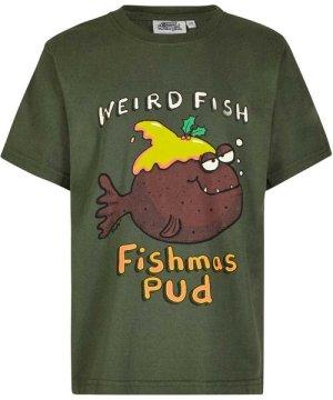 Weird Fish Fishmas Pud Boy's Artist T-Shirt Thyme Size 5-6