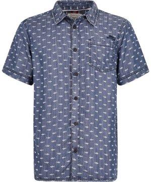 Weird Fish Crosby Printed Tencel Shirt Denim Size 5XL