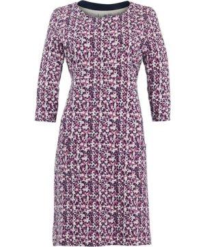 Weird Fish Starshine Patterned Jersey Dress Magenta Size 14