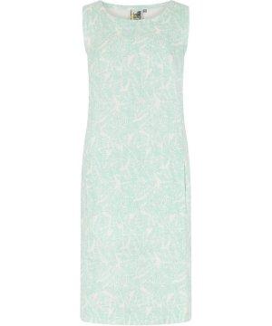Weird Fish Elliana Printed Linen Dress Honeydew Size 22