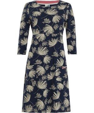 Weird Fish Starshine Printed Jersey Dress Navy Size 18