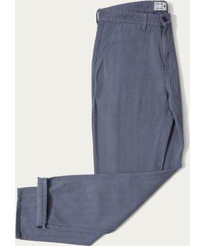 Folkstone Grey Cotton Straight Leg Trouser