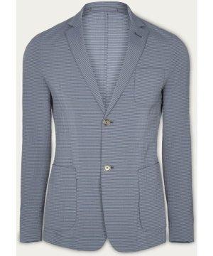 Indigo Seersucker Stripe Jacket