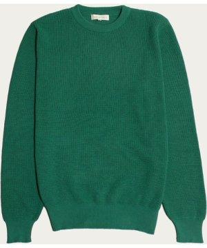 Bottle Green Zaca Crew Knit