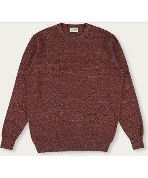 Brown Heckel Knitwear