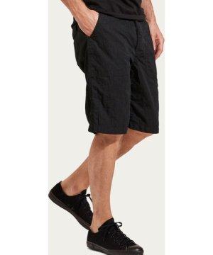 Washed Black Cotton/Nylon Shorts