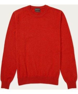 Rust Caddington Cashmere Crew Neck Sweater