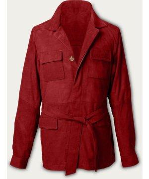 Rust Rakish Belted Suede Safari Jacket MTO