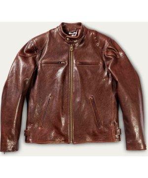 Café Racer Brown Leather Jacket