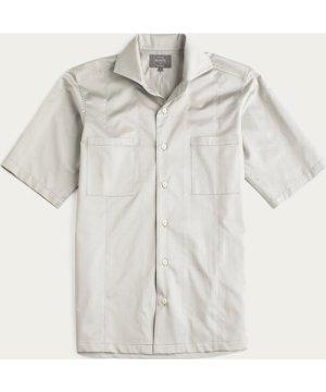 Stone Grey Sateen Maxwell SS Cutaway Shirt