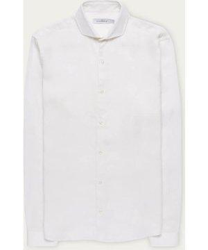 White Linen Garment Dye Shirt
