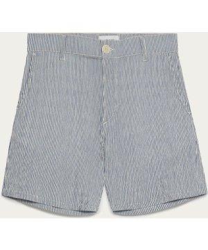 Navy & White Seersucker Holm Shorts