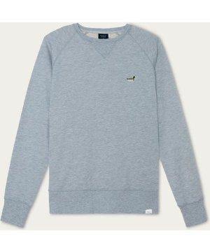 Grey Melange Duck Patch Sweatshirt