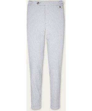 Blue Seersucker Stripe Trousers