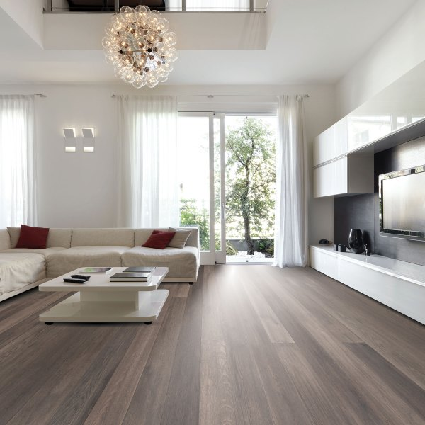 Tesoro Woods White Oak Wood Flooring Coastal Inlet, Dove