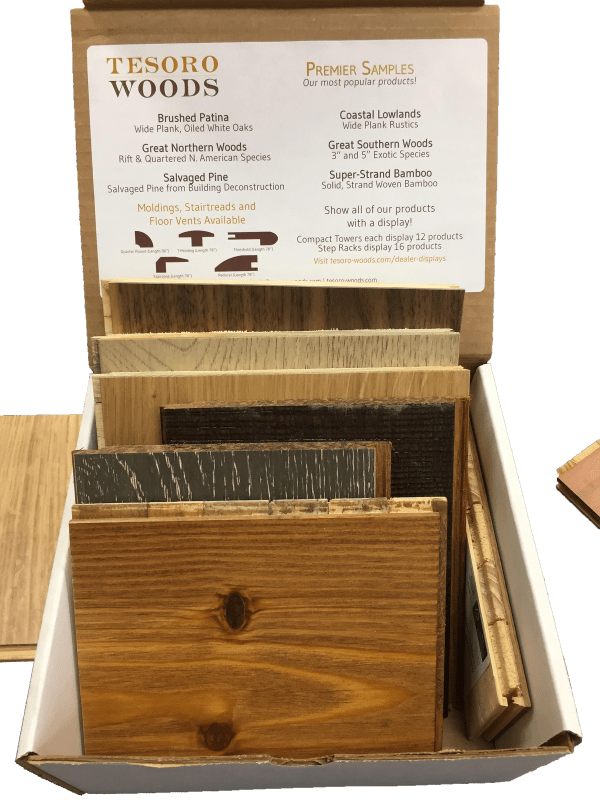 Tesoro Woods Display Premier Sample Box