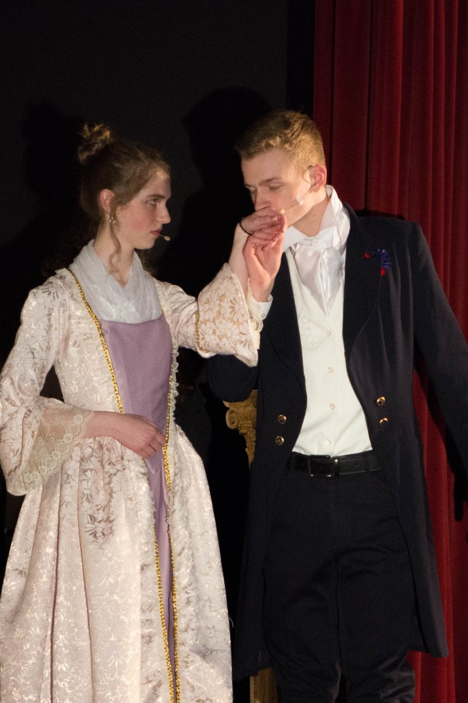 Me and Conner Wells as Marguerite Blakeney and Chauvelin in my adaptation of the Scarlet Pimpernel. You can find this in my writing samples
