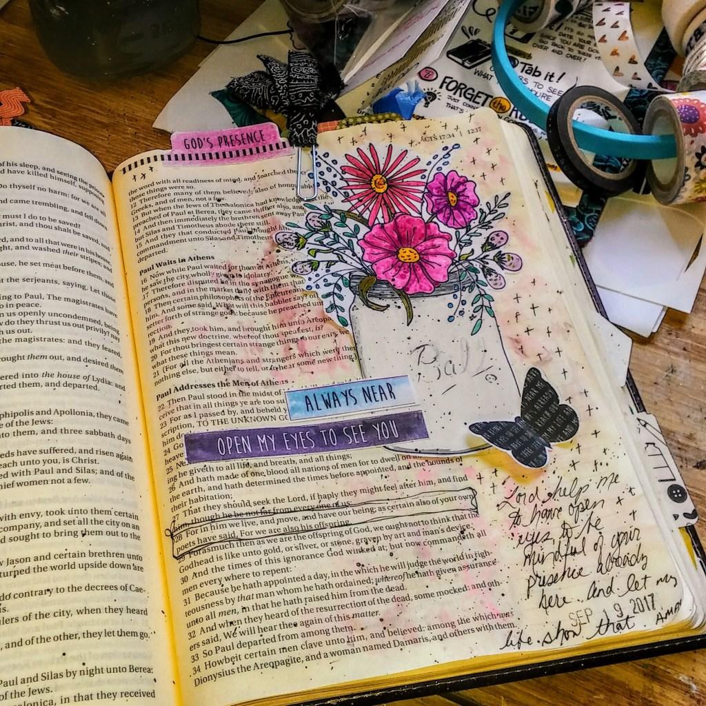 Bible Journaling Workshop page