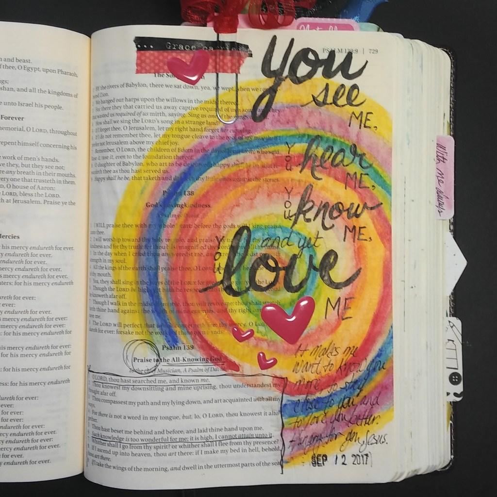 Bible Journaling neocolor 2