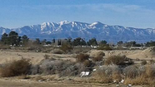 San Gabriel Mountains in Winter