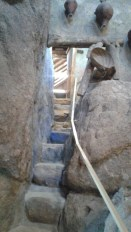 The rock stairs to the museum loft