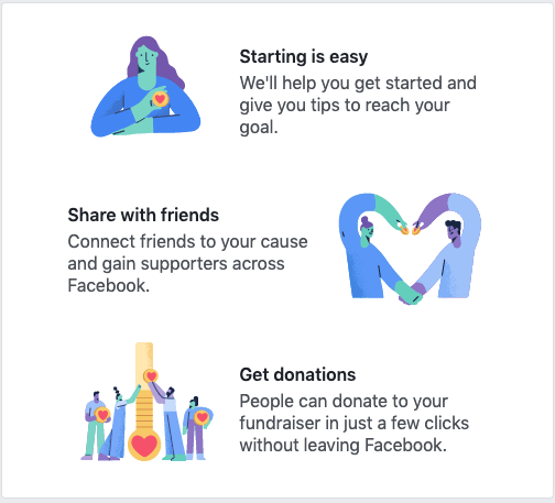 Support Facebook Fundraisers