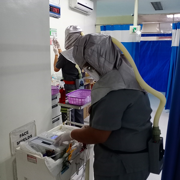 Using Electromex, even hospital workers can be protected from unsterilized areas
