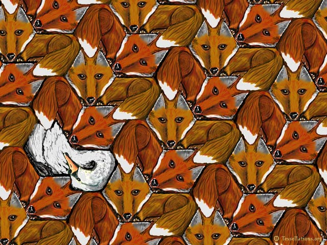 IT WASNT US Guilty Fox Theme Tessellation Art By Dr David