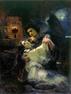 Tamara and Demon by Konstantin Makovsky