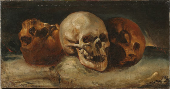 Three Skulls by Theodore Gericault