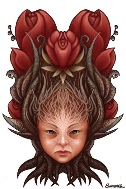 Flowerchild by Sorknes | http://sorknesart.com/