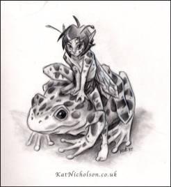 Frog Fae by Kat Nicholson | http://katnicholson.co.uk/