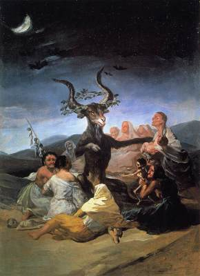 Witches Sabbath, 1789 by Francisco Goya