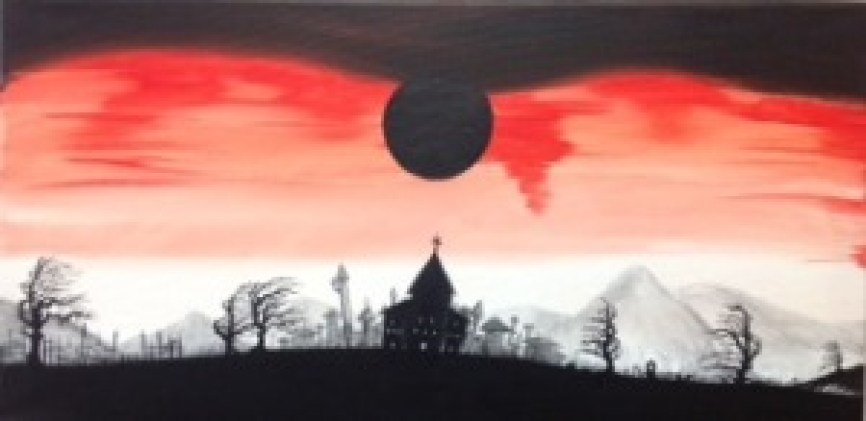 Blood Dawn 12x24 - $35
