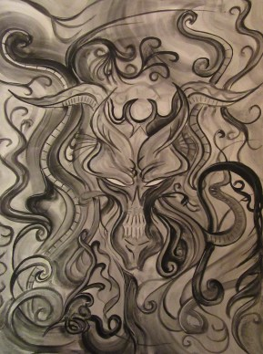 Daemonic - 18x24 - Watercolor - $50