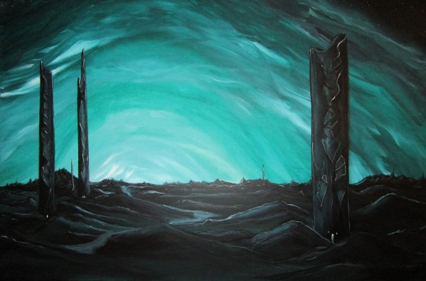 Grave Towers - 24x36 - $150