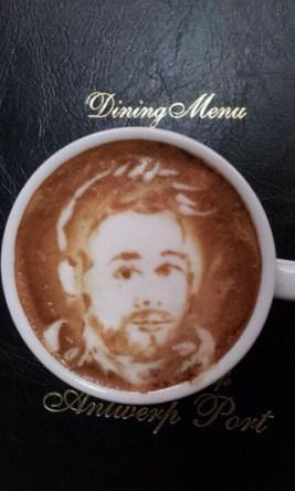 coffee portrait of Twitter fan