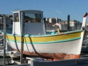 An old fishing boat in Marseille Harbour