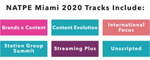 NATPE Miami 2020 Tracks Include