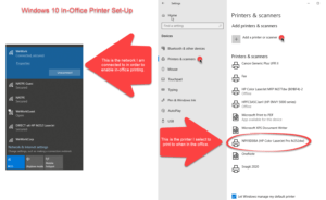 Windows 10 NATPE In-Office Printer Set-Up and Support