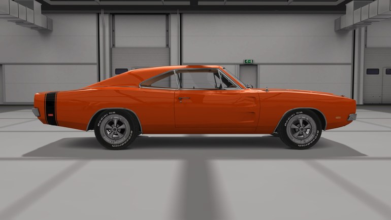 Vista laterale Dodge Charger RT in Assetto Corsa