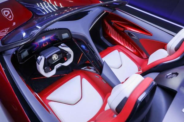 Vista interni MG Cyberster