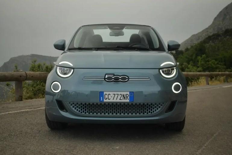 Anteriore nuova Fiat 500