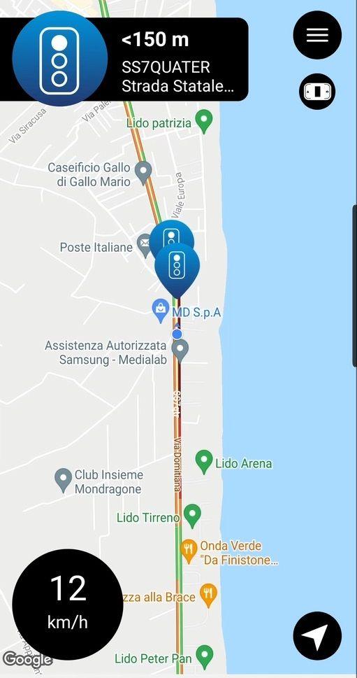 Mappa autovelox Saphe
